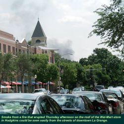 Walmart roof fire 3-080609