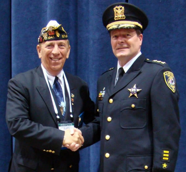 Chief mike holub honored by american legion 071610
